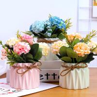 仿真花花艺套装小盆栽摆件北欧家居室内客厅假花装饰品窗台摆设花