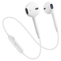 蓝牙耳机无线运动耳塞式X7 X9 X20双耳跑步通用学生吃鸡游戏超长待机重低音挂脖式可接听电话 白色 标配