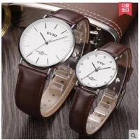 手链精致镶嵌圆形表盘气质手表腕表简约水钻男女对表情侣表皮链手表