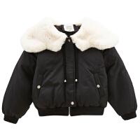 女童棉衣冬装童装儿童棉袄小女孩短款外套潮