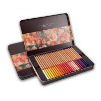 油性彩色铅笔马可3100油性彩色铅笔24/36/48/72/100色铁盒填色笔