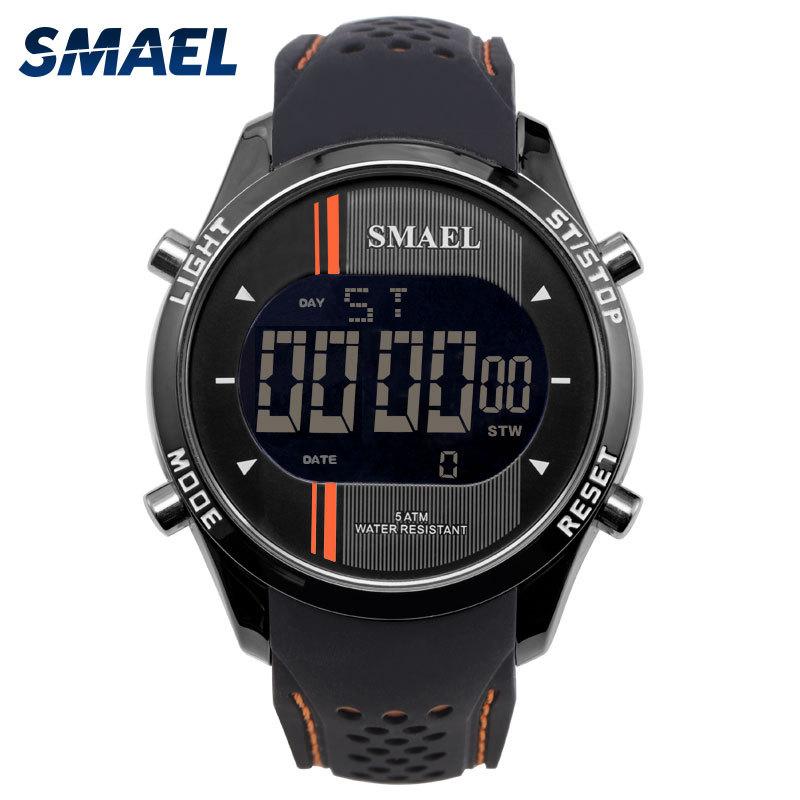 斯麦尔(SMAEL) 手表 电子表 1283男士 日期显示户外运动橡胶带防水夜光表 新品上新,多多惠顾