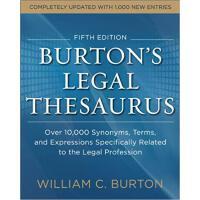 【预订】Burtons Legal Thesaurus 5th edition: Over 10,000 Synony