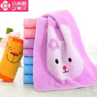 洁丽雅小毛巾 纯棉卡通可爱亲肤儿童毛巾纯棉吸水宝宝洗脸童巾