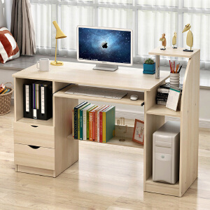 电脑桌 台式家用省空间卧室桌子经济型简约现代学生书桌多功能大容量简易写字台