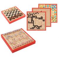 儿童玩具围棋飞行棋象棋六合一棋类游戏木制