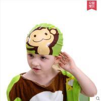 儿童户外沙滩温泉硅胶泳帽男童女童卡通动物防晒游泳帽 可礼品支付