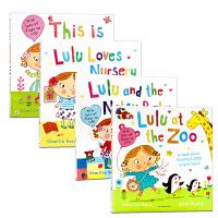 【满300-100】英文原版绘本 LULU 露露系列绘本4册合售 平装大开翻翻书 幼儿认知启蒙英文版 Lulus系列 我