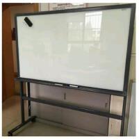 得力90*120cm支架式磁性钢化玻璃移动白板 教学 会议白板 8738