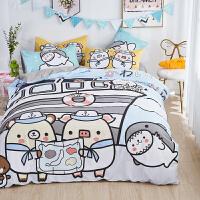 【每满100减50】日漫床上四件套全棉二次元卡通纯棉少女心儿童床单被套可爱三件套
