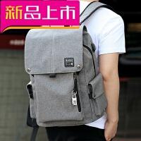 20180922221953615男士双肩包韩版校园电脑背包街头个性高中初中学生书包男时尚潮流