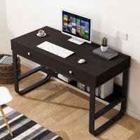 【限时直降3折】钢木桌书桌简约台式电脑桌办公桌家用学生宿舍写字桌双单人桌子