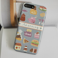 苹果xsmax早餐手机壳iphone6s全包保护套8plus卡通i7浮雕软xr
