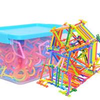 捷�N  益智积木 聪明棒积木 幼儿园儿童启蒙早教塑料拼插拼装益智