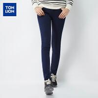 【疯抢2件3折价49.5元】唐狮冬装新款牛仔裤女弹力加绒修身小脚牛仔长裤