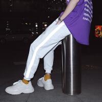 夏款新款时尚的裤子韩版宽松男生运动裤休闲百搭哈伦裤子