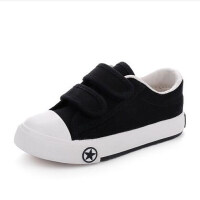 秋季儿童帆布鞋男童运动鞋板鞋黑色小白鞋女童经典款学生鞋子