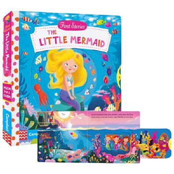 First Stories The Little Mermaid Busy系列纸板书 小美人鱼 纸板机关操作活动绘本 英文原版图书进口 2-6岁儿童英语读物