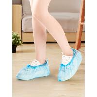 塑料脚套一次性鞋套加厚家用室内学生防水雨天防滑耐磨防尘透明套