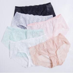 顶瓜瓜内裤女士蕾丝性感清新可爱短裤少女三角裤女单条装