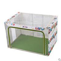时尚印花火车头创意收纳箱可视窗防水牛津布钢架收纳箱衣服储物箱