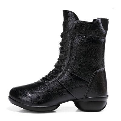 春秋广场舞鞋女靴软底舞靴中筒舞蹈靴水兵舞高帮跳舞靴子防滑新款