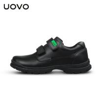 【1件3折�r:155元】UOVO�和��\�有�春秋新款�和�黑色小皮鞋中童小�W生童鞋休�e鞋 霍格沃茨