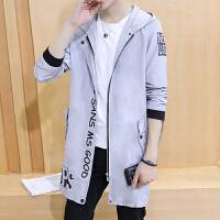 秋冬潮几何图案男装外穿上衣长袖外套男士夹克青春流行韩版秋季