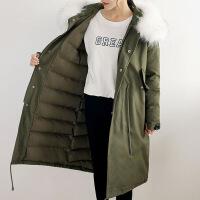 孕妇装冬装外套棉衣韩版大码200斤大衣中长款加厚袄子女宽松