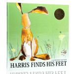英文原版绘本 Harris Finds His Feet 哈里的大脚 荣获凯特格林纳威奖 儿童启蒙图画故事书