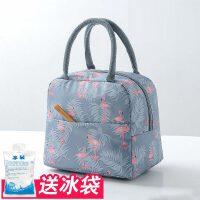 韩版饭盒袋保温袋便当袋手提包带饭的袋手拎袋帆布袋学生拎袋午餐