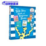 英文原版绘本 Big blue book of beginner book 苏斯博士大蓝书 6合1 精装 儿童启蒙图画