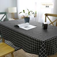 【人气】媲美 棉麻小清新桌布布艺格子北欧文艺书桌茶几餐桌简约现代家用长方形