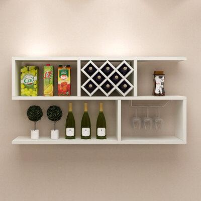 架墙上置物架装饰架酒格餐厅摆件架酒架壁挂现代简约柜子架子创意家具图片