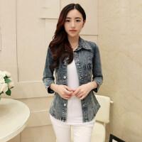 韩版修身显瘦 新款牛仔衬衫女长袖 新品牛仔衬衣女大码薄外套