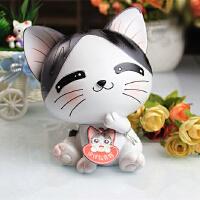 甜甜私房猫储蓄罐起司猫存钱罐创意走心生日礼物女生友送闺蜜同学