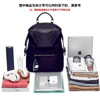 女士休闲包包双肩包女2018新款韩版时尚潮流牛津布大容量书包旅行背包旅游 黑色-加大号-可装17寸笔记本 可当小行旅行