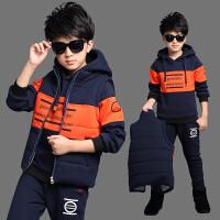 男童运动套装童秋冬装学生男孩卫衣三件套