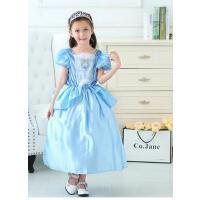 儿童灰姑娘公主裙 连衣裙秋新款女童礼服演出服 长裙迪士尼蓬蓬裙