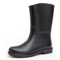 雨鞋女中筒秋冬水靴水鞋时尚鞋果冻胶鞋户外套鞋雨靴