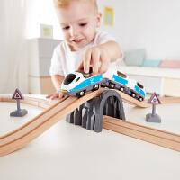 Hape儿童模型玩具火车轨道经典8字套3岁+