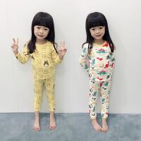 女童睡衣套装长袖休闲家居服女宝宝两件套儿童睡衣