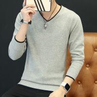 男士毛衣秋冬季2018新款韩版潮流保暖加绒加厚打底针织衫男装线衣