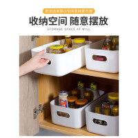 杂物收纳筐学生桌面零食储物盒塑料家用厨房整理盒子化妆品收纳盒