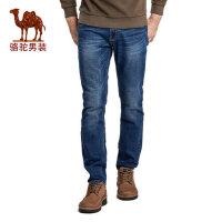 camel 骆驼男装 春秋季时尚都市青年商务休闲拉链牛仔裤男长裤子
