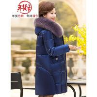 中老年棉衣女中长款妈妈装羽绒40-50岁中年加厚棉袄冬装外套