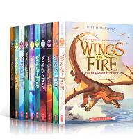 英文原版奇幻小说 火焰之翼10册合售 Wings of Fire 儿童课外英语推荐阅读冒险章节图文书 Tui Suth