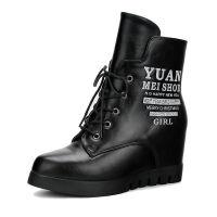 反季处理女式棉鞋冬季棉靴子加绒加厚内增高跟女鞋靴 5710 黑色