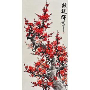 中国林业美术家协会会员王君四尺整张花鸟画《傲视群芳》ZH0420
