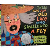 There Was An Old Lady Who Swallowed A Fly 有个老婆婆吞了一只苍蝇 英文原版 凯迪克银奖绘